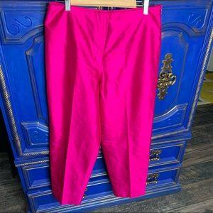 BETU Fuchsia Pants Dressy Statement 100% Silk 12